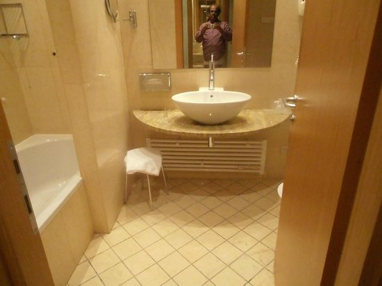 Crowne Plaza Padova: view of toilet in room