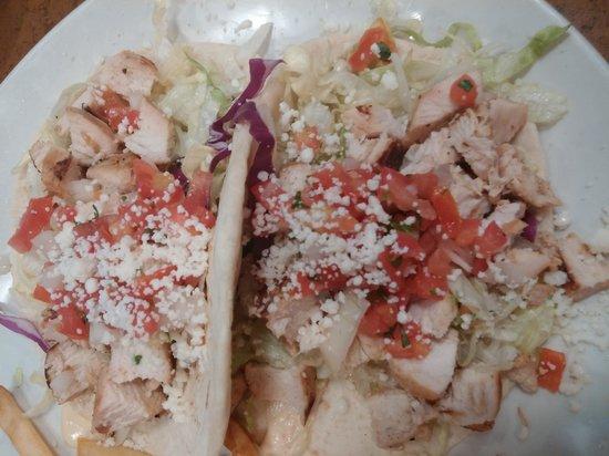 Chevys Fresh Mex: chicken tacos