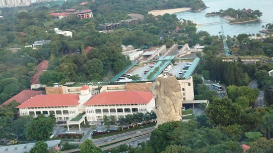 Tiger Sky Tower: moevenpick hotel and the Merlion