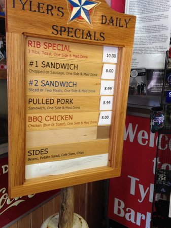 Tyler's Barbecue: Today's Special