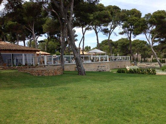 Cala Rotja : windgeschützte terrasse