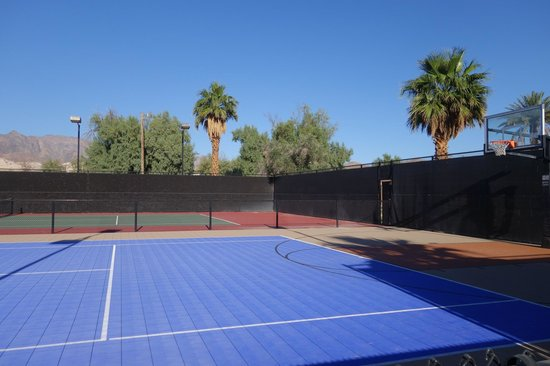The Ranch at Death Valley: tennis/basketball courts, plus putting, skeeball, petank etc etc