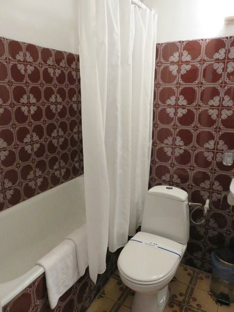Hotel Ukraine: Basic but clean bathroom