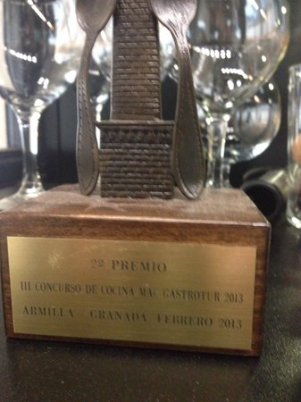 Carmela Restaurante: Gastronomy Price won