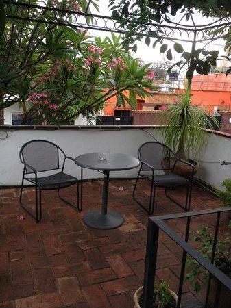 Estancia de Valencia: Terraza de la habitación Granate