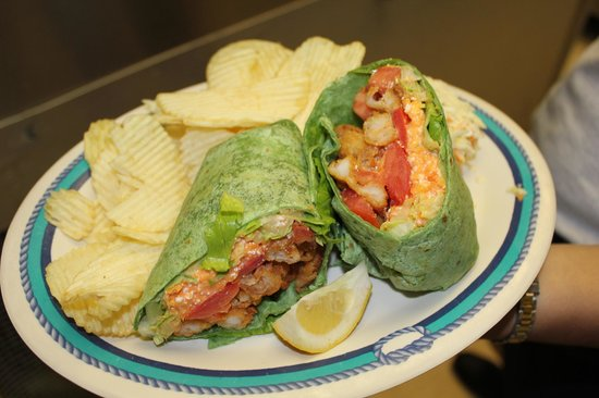 Fish Tales Market & Eatery : One of our Specials...a Buffalo Chicken wrap