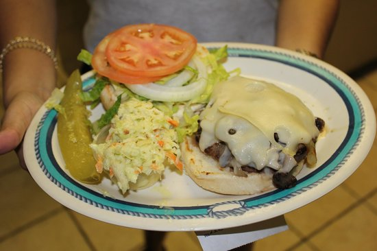 Fish Tales Market & Eatery : Our Bavarian Burger