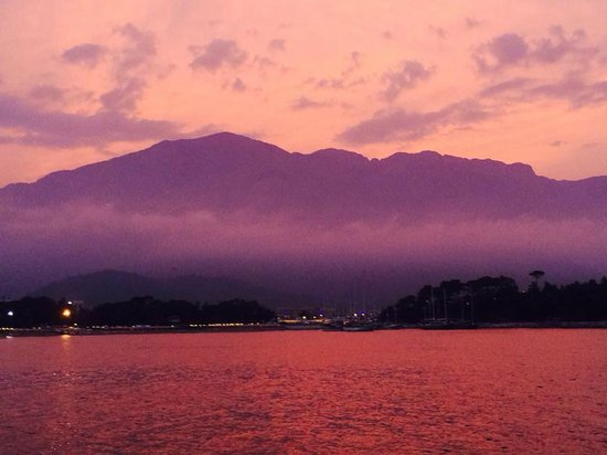 Club Med Kemer: vue sur mer au coucher du soleil