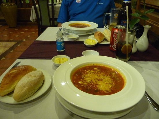 Summit Parkview Hotel : Best minestrone soup from hotel restaurant