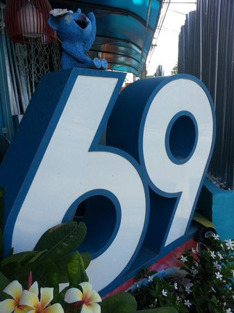 Cafe 69 : Symbolic exterior street front