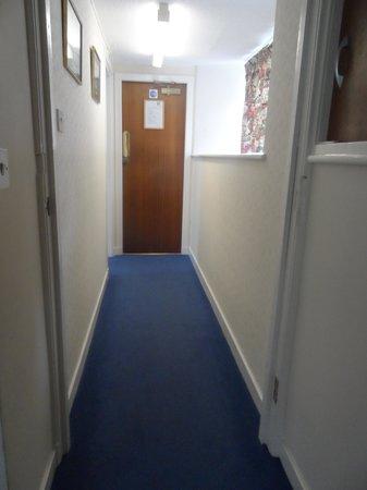 The Urr Valley Hotel: Hallway, one door on left to bathroom, I am standing in room