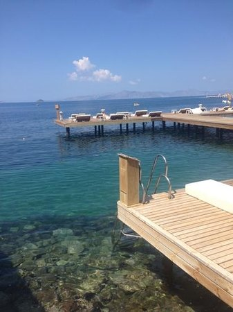 Sianji Wellbeing Resort: vue des vip cabana