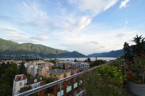 Hotel La Perla: Aussicht von der Terrasse