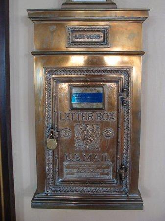 Hotel Galvez & Spa A Wyndham Grand Hotel : Original letter box - located by elevators - still in use!