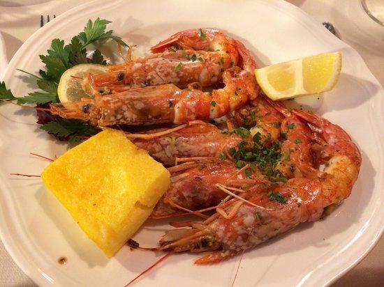 Taverna San Trovaso : Grilled prawns with polenta