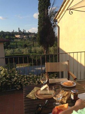 Locanda Viani : le soir sur la terrasse avec vue