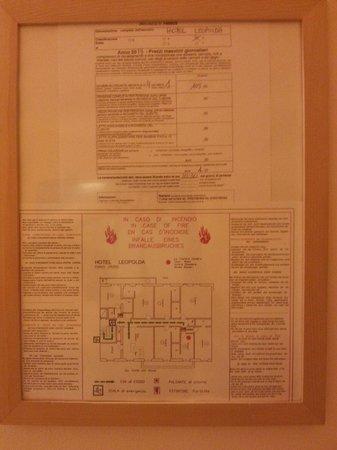 Hotel Leopolda: Planimetria