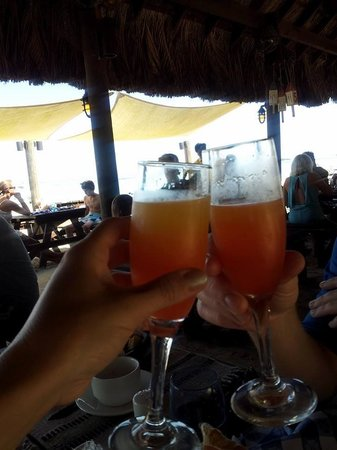 Beaches Negril Resort & Spa: Cheers!  Breakfast at Stewfish!