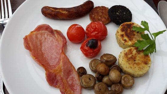 Ariel House : Full Irish Breakfast (sans eggs)
