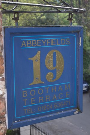 Abbeyfields: Sign out front
