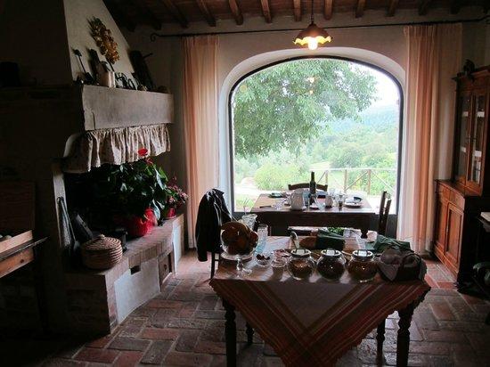 Podere Alberese: Sala colazione