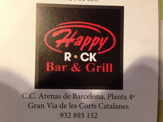 Happy Rock Bar&Grill: Despite of the last couple bad reviews we decided to try it