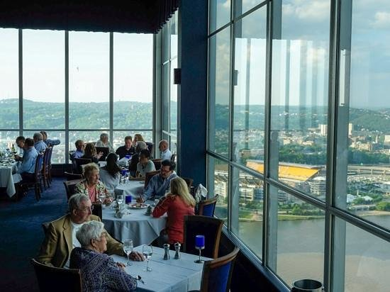 Monterey Bay Fish Grotto: Interior with view of Pittsburgh