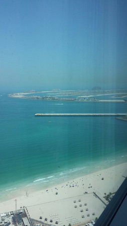 JA Oasis Beach Tower: Room view of the Palm and Atlantis