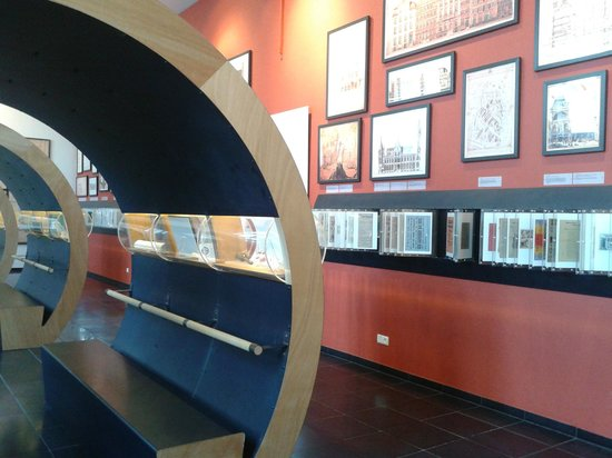 STAM Ghent City Museum: Room showing history of Ghent 1800-1950
