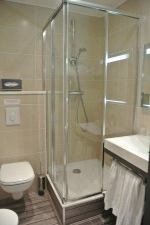 Hôtel de Bourgogne : Local de douche !