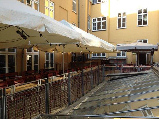 Hotel SP34: Rooftop Patio (well actually 2nd floor, interior)