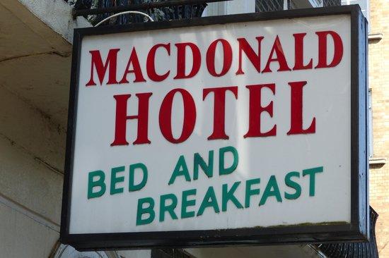Macdonald Hotel sign