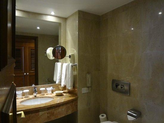 Elysium Hotel: Ванная комната укомплектована всем нужным