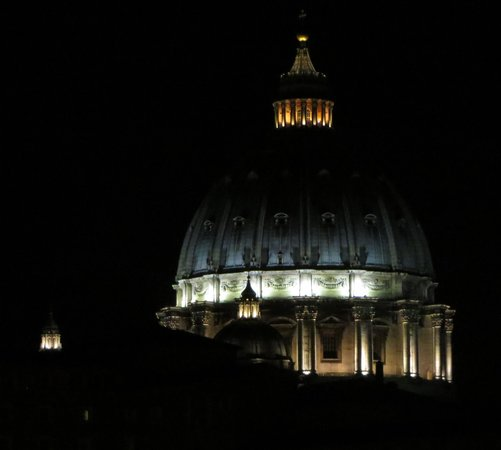 A View of Rome: View of St Peter's Basilica from our room