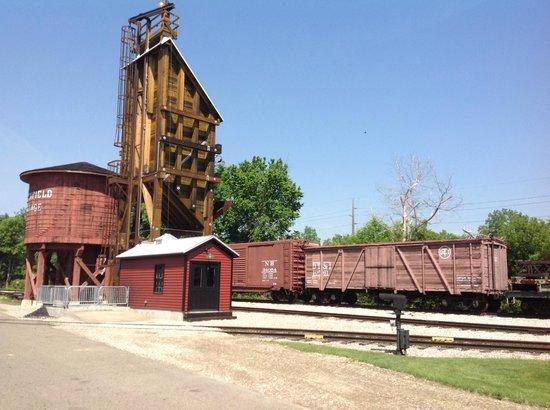 Dearborn, ميتشجان: Train yard.