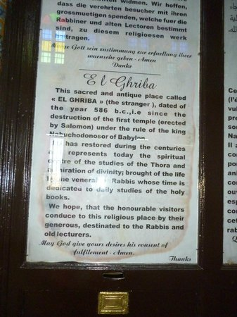 El Ghriba Synagogue: inside the Synagogue