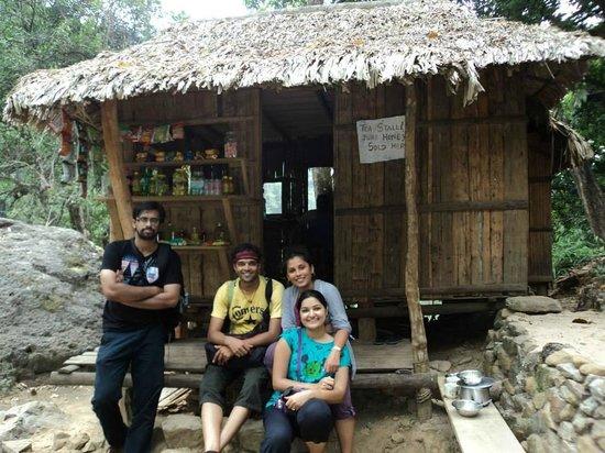 Double Decker Living Root Bridge: refreshment stall