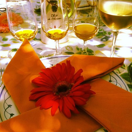 The Awaiting Table Cookery School in Lecce, Italy : Olive oil tasting under the loggia