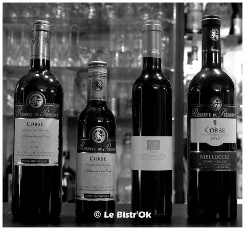 Le Bistr'Ok : Les vins rouges Corses