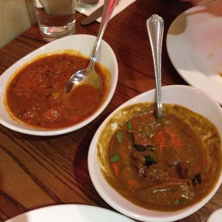 Maveli: Fishermen style curry and green curry with lamb. Amazing stuff.