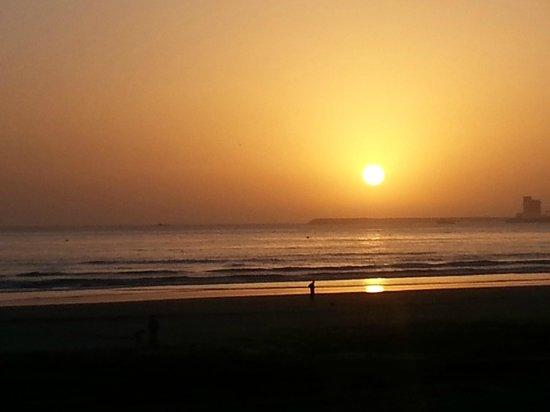 Hotel Riu Tikida Beach : coucher de soleil