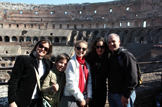 Rome Tours With Kids by Maria Rita: At the Colosseum..