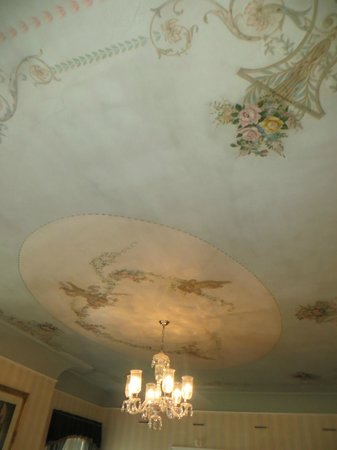 Sheppard Mansion Bed and Breakfast : hand painted ceiling