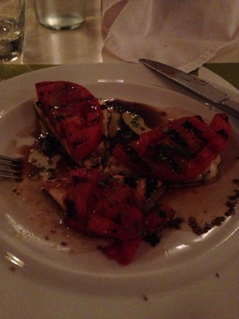 Elia Beach Restaurant: Amazing grilled cheese and tomatoes