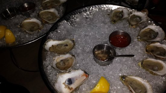 Island Creek Oyster Bar: Oysters were excellent, some were briny and some were not just as promised