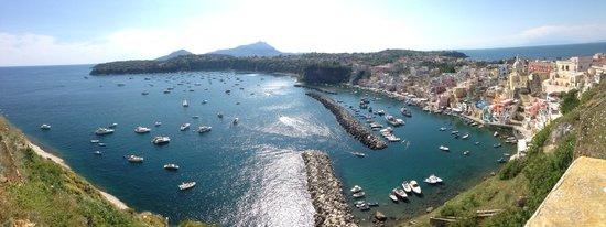 The Port of Corricella: Dal belvedere