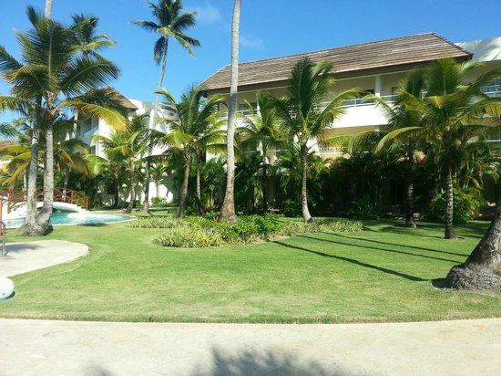 Secrets Royal Beach Punta Cana: Blick zum Hotelgebäude mit Zimmer 5141
