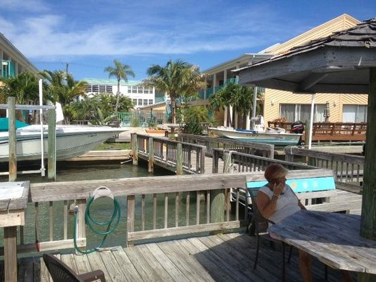 Five Palms Condominium Resort: Dock and Pool Area