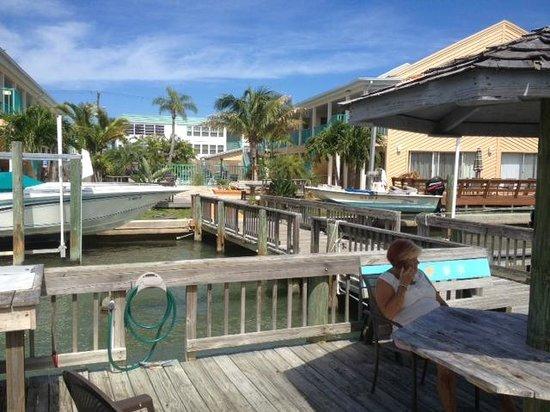 Five Palms Condominium Resort : Dock and Pool Area