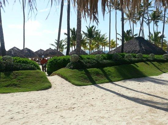 Blick von der Poolbar zum Strand